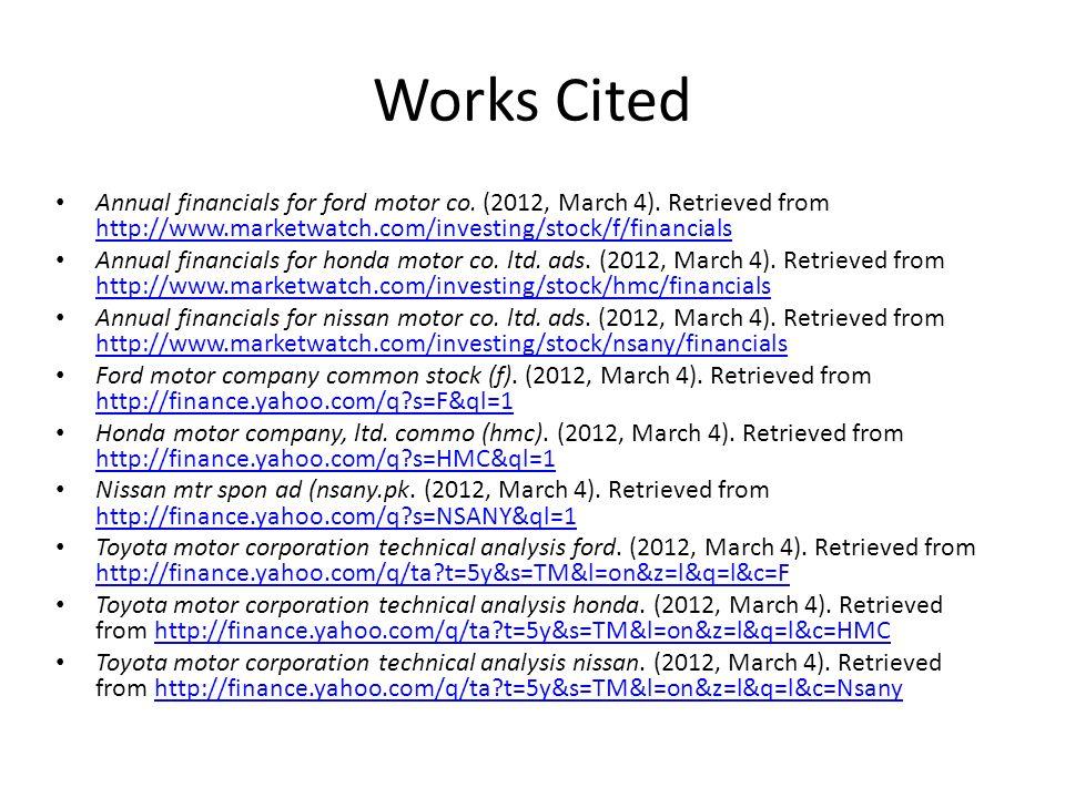 toyota motor company financial analysis