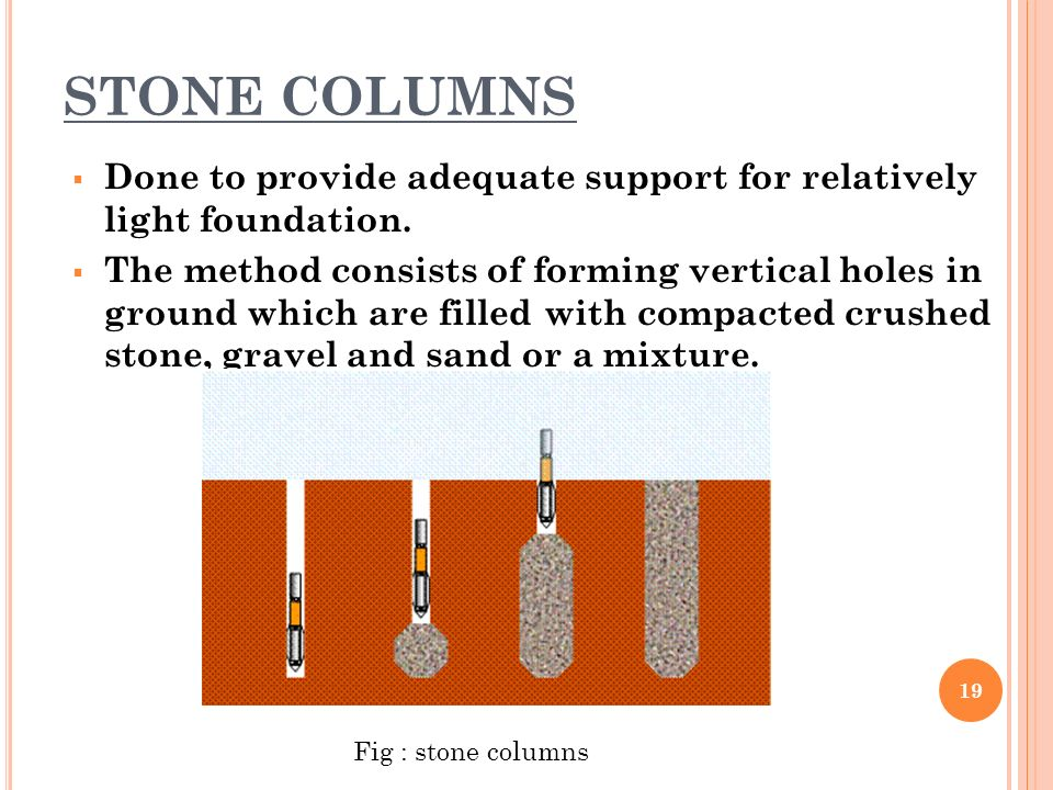 Stone Column Foundation : Ground improvement techniques for highways ppt video