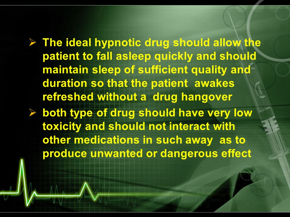 Anxiolytic sedative and hypnotic drugs ppt video online download the ideal hypnotic drug should allow the patient to fall asleep quickly and should maintain sleep ccuart Images