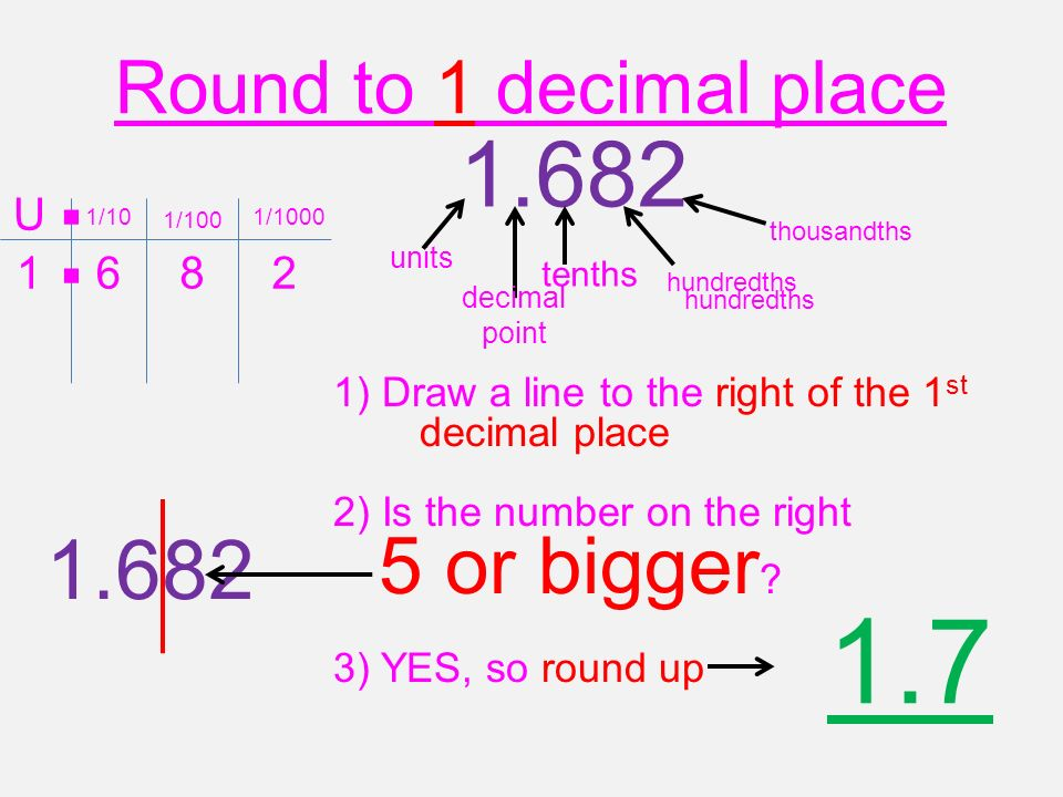 Rounding To 1,2 or 3 decimal places. - ppt video online download