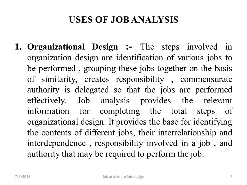 job design and job analysis in construction company ppt Job design from an alternative perspective social influences contribute to the participant's construction the interpretivist approach to job design analysis.