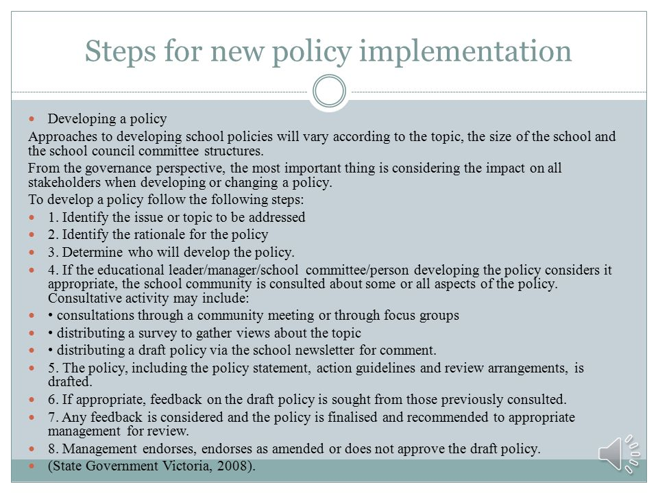 developing government policies The challenge for government policy is to develop policies that work  february 1, 2015 entrepreneurial ecosystems and the role of regulation and infrastructure.