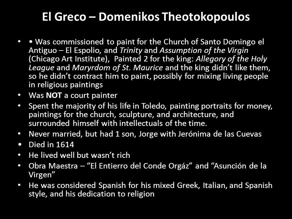El Greco – Domenikos Theotokopoulos