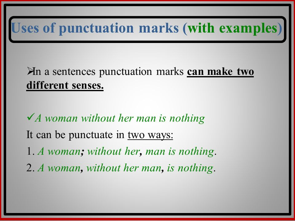 different kinds of punctuation