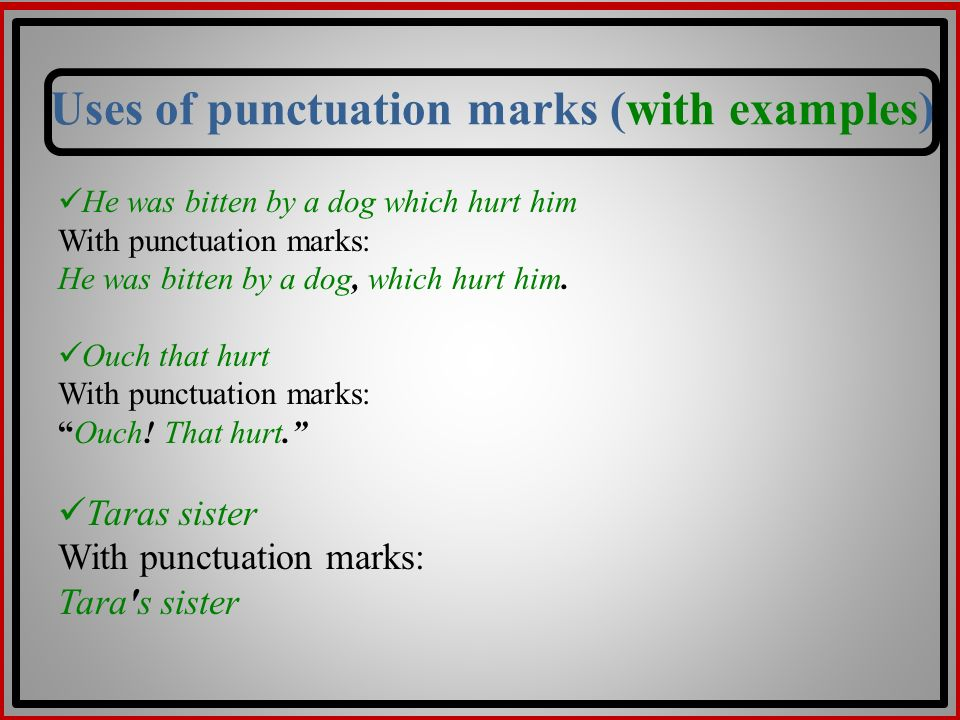punctuations examples
