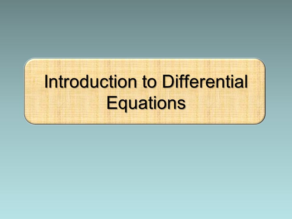 introduction to differential equations Introduction to partial differential equations there are a variety of methods for obtaining symbolic, or closed-form, solutions to differential equations.