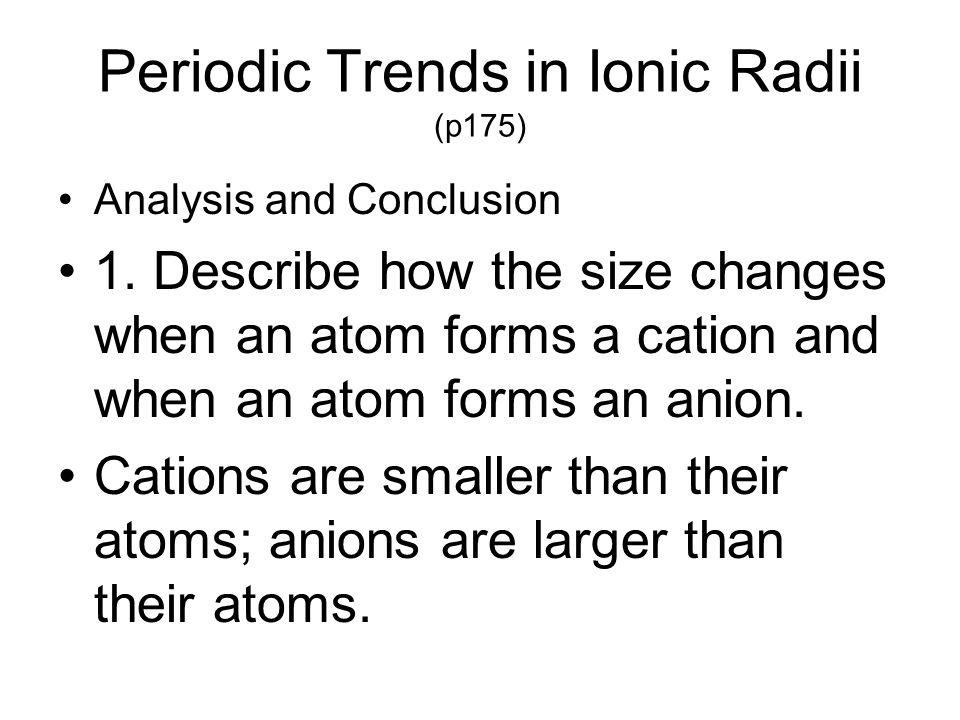 Periodic Trends Ch ppt download