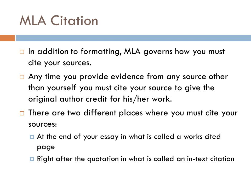 correct mla citation essay