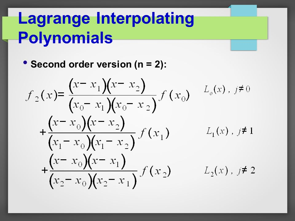how to find interpolating polynomial