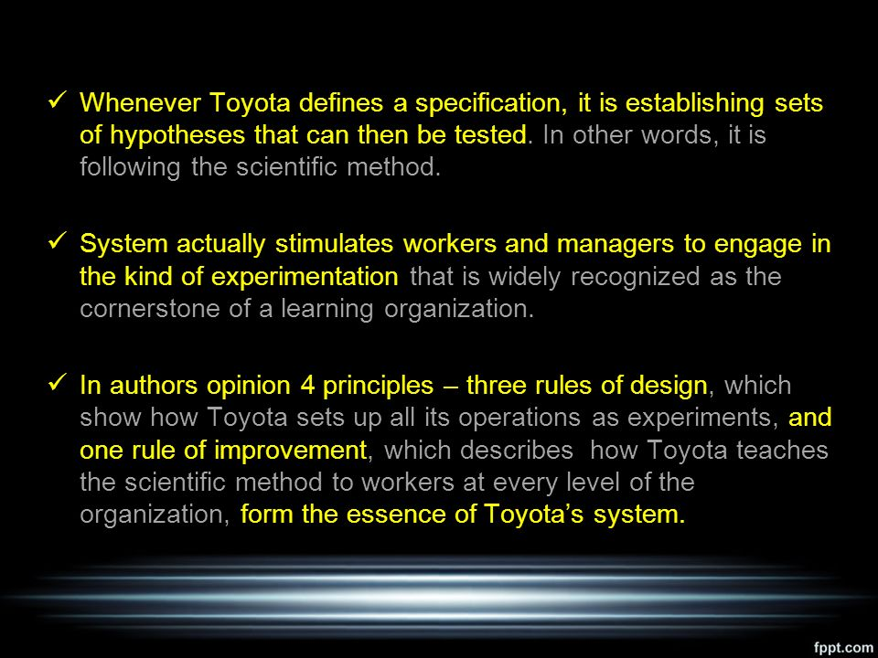 decoding the dna of tps This is the essence of toyota and everything else about tps  many manufacturers imitate the toyota production system or  decoding the dna of the toyota.