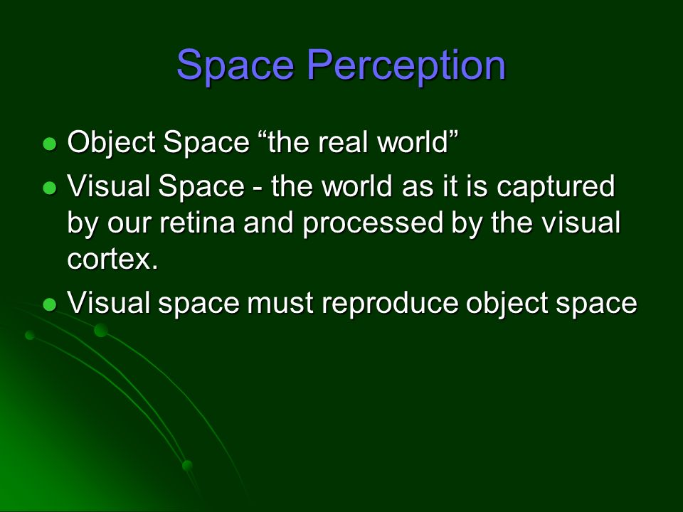 space perception