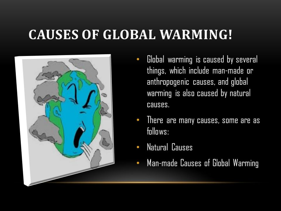 The various causes of global warming today