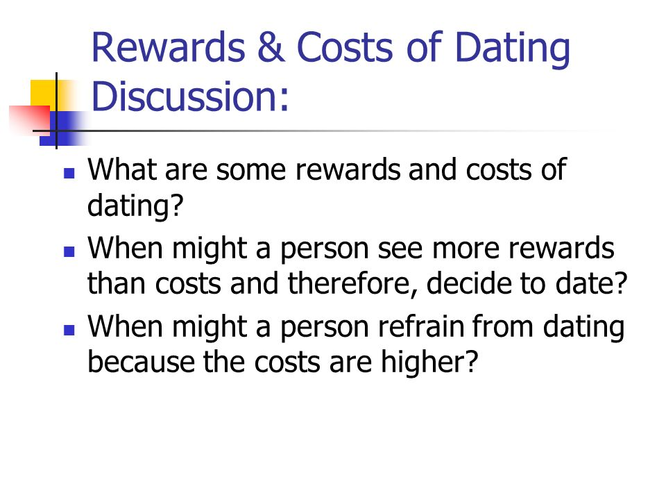 relationship costs and rewards
