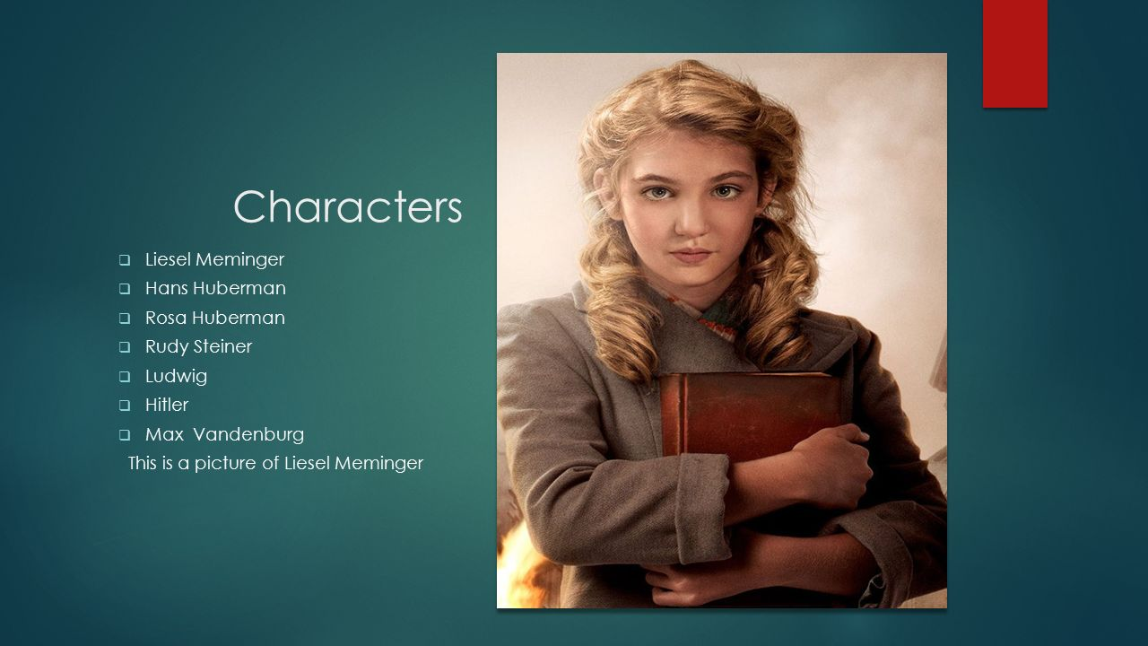 the book thief author markus zusak ppt video online  3 characters