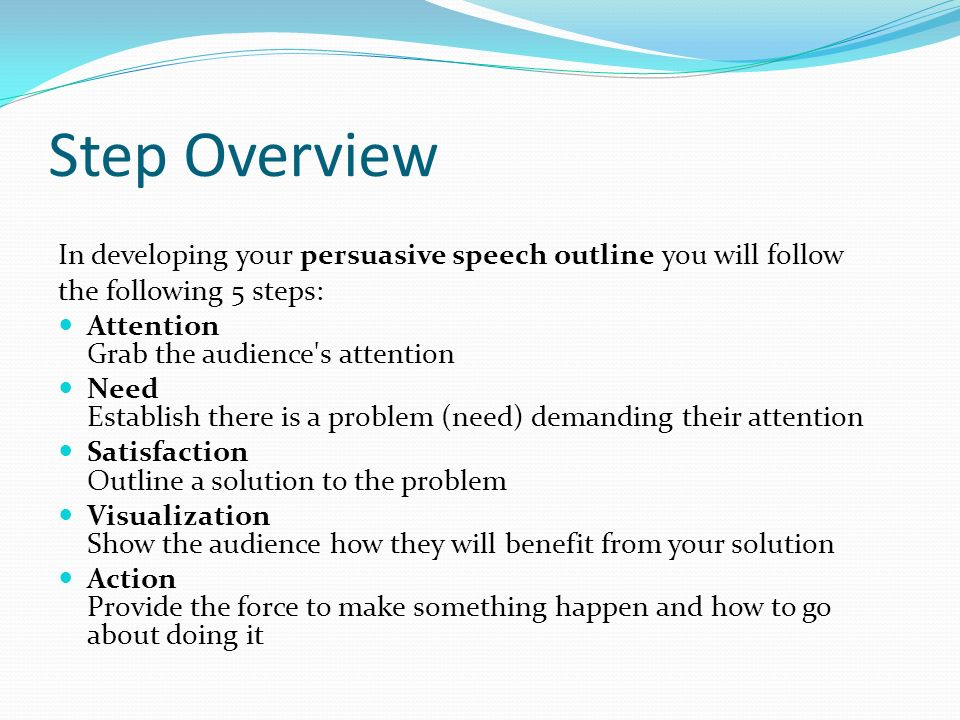 persuasavie speech Check out our persuasive essay samples to get acquainted with this popular form of essay of speech, consciousness, self-expression, gender roles, and so on.