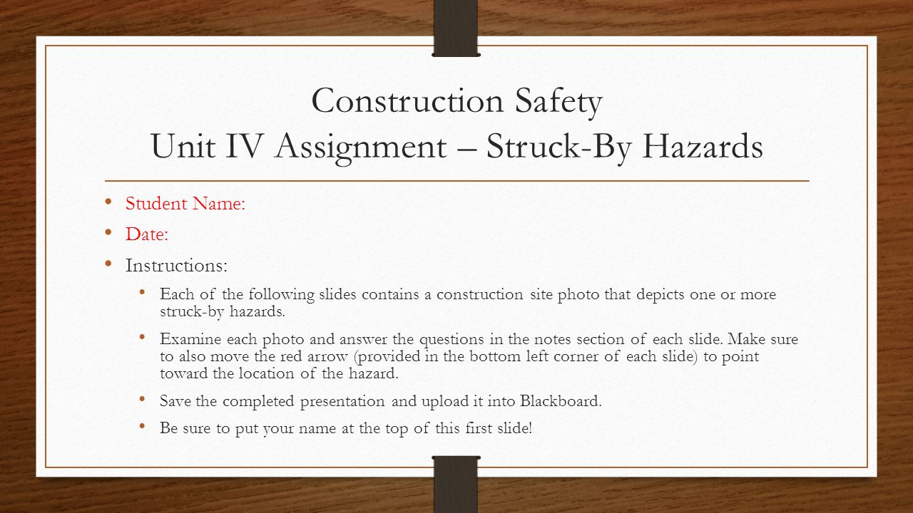 safety assignment