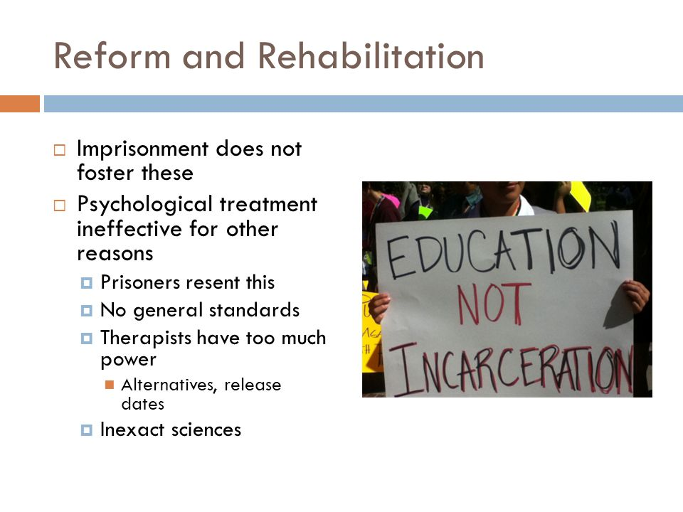 how does prisoner rehabilitation affect prisons and general society Many prisoners also feel rejected by society once they are released prejudice, intolerance and stereotypes abound this affects those who have used their time in prison effectively as much as .