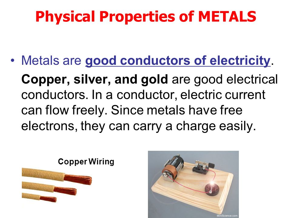 Good Conductors Of Electricity : Metals nonmetals and metalloids ppt download