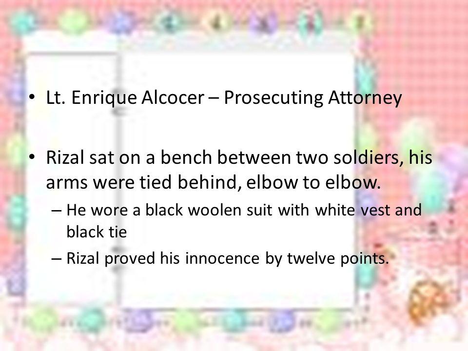 Lt. Enrique Alcocer – Prosecuting Attorney