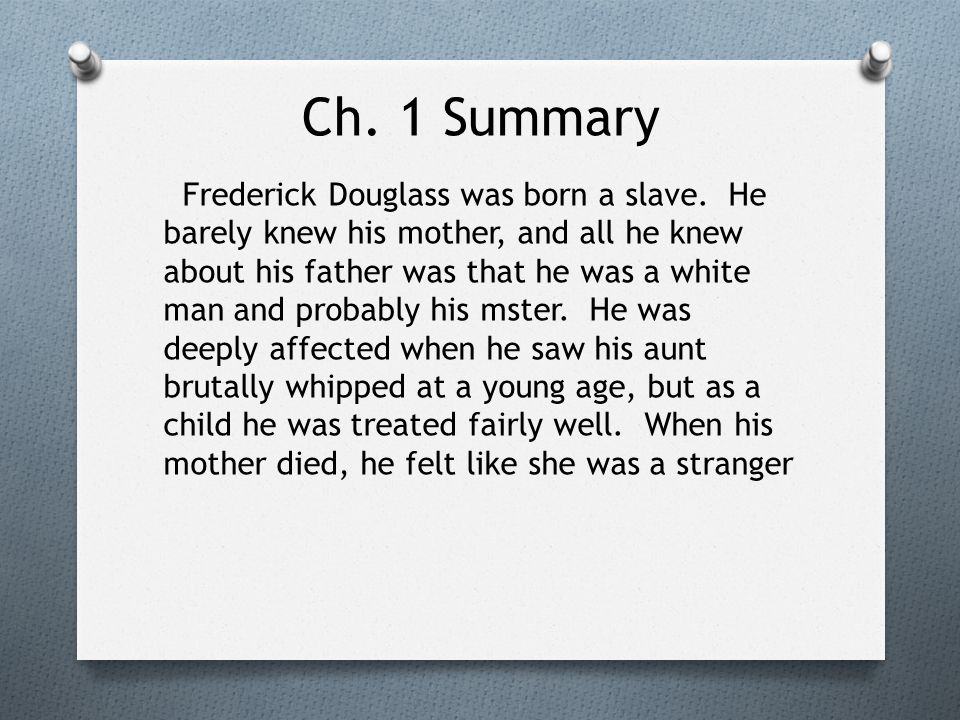 learning to read and write frederick douglass summary Narrative of the life of frederick douglass narrative of the life of frederick douglass summary and when a slave learns to read and write he is no.