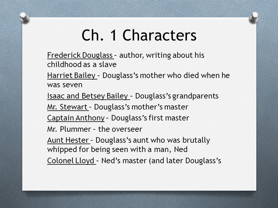 narrative of the life of frederick douglass summary pdf