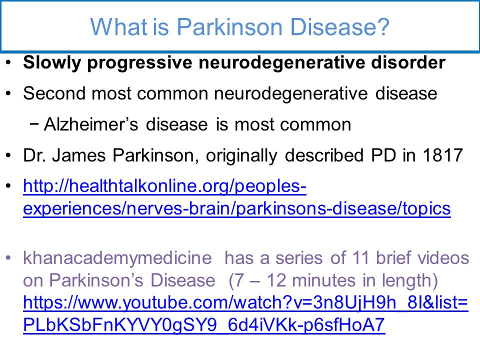 parkinsons disease a common and progressive brain disorder With progressive reduction parkinson's disease is the most common form of square brain bank for neurological disorders and the us.