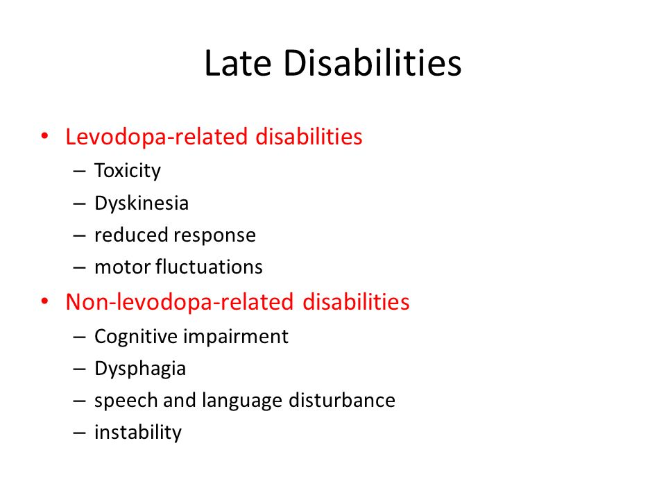 Levodopa Toxicity