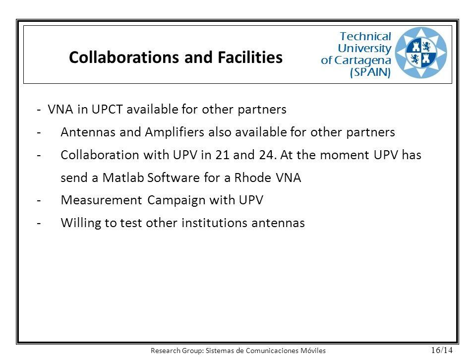 Collaborations and Facilities