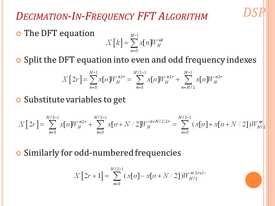 fft algo The reason the fourier transform is so prevalent is an algorithm called the fast fourier transform (fft), devised in the mid-1960s, which made it practical to calculate fourier transforms on the fly ever since the fft was proposed, however, people have wondered whether an even faster algorithm could be found.