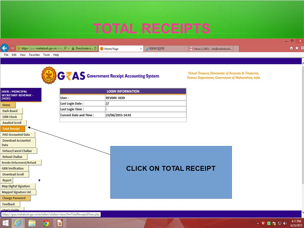Purchase Order Invoice Word Government Receipt Accounting System  Gras  Ppt Video Online  Macys Receipt with Receipt Dispenser  Total Receipts Click On Total Receipt Bpa On Receipt Paper Excel