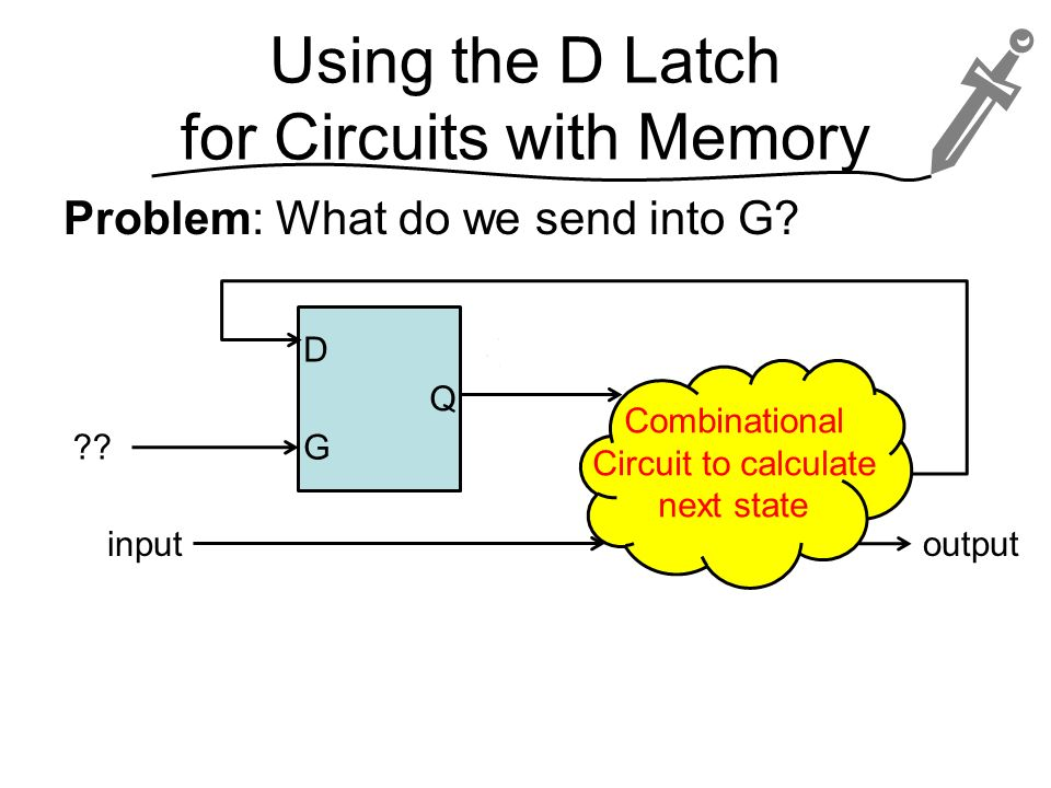Using the D Latch for Circuits with Memory