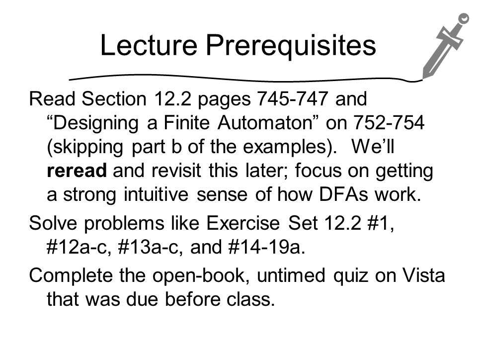 Lecture Prerequisites