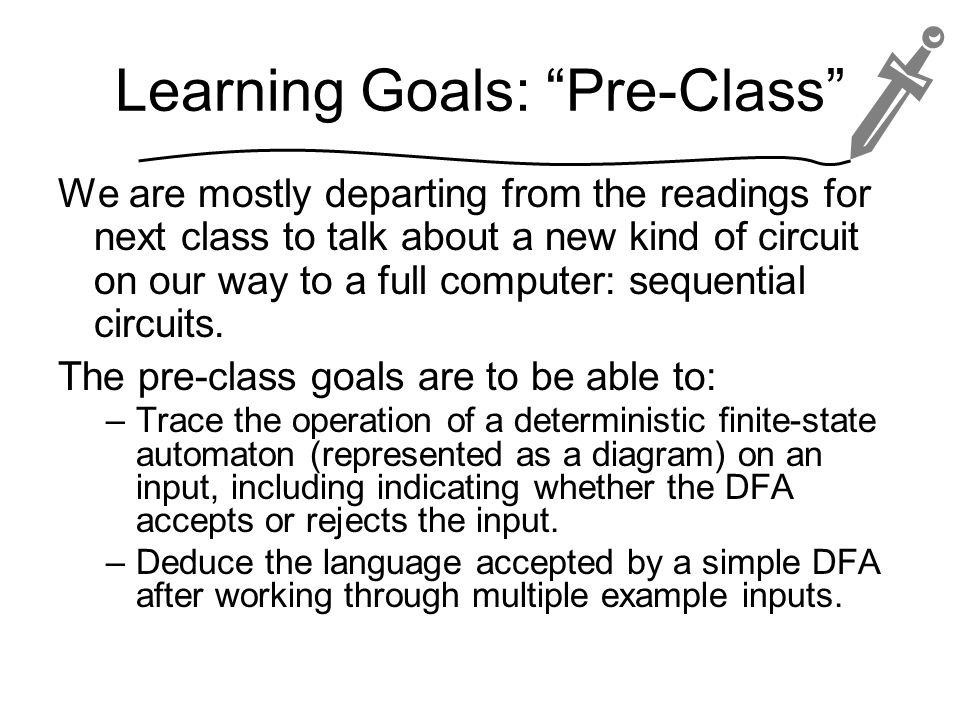 Learning Goals: Pre-Class
