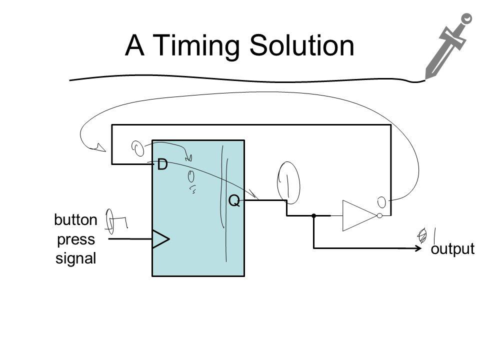 A Timing Solution D Q button press signal output