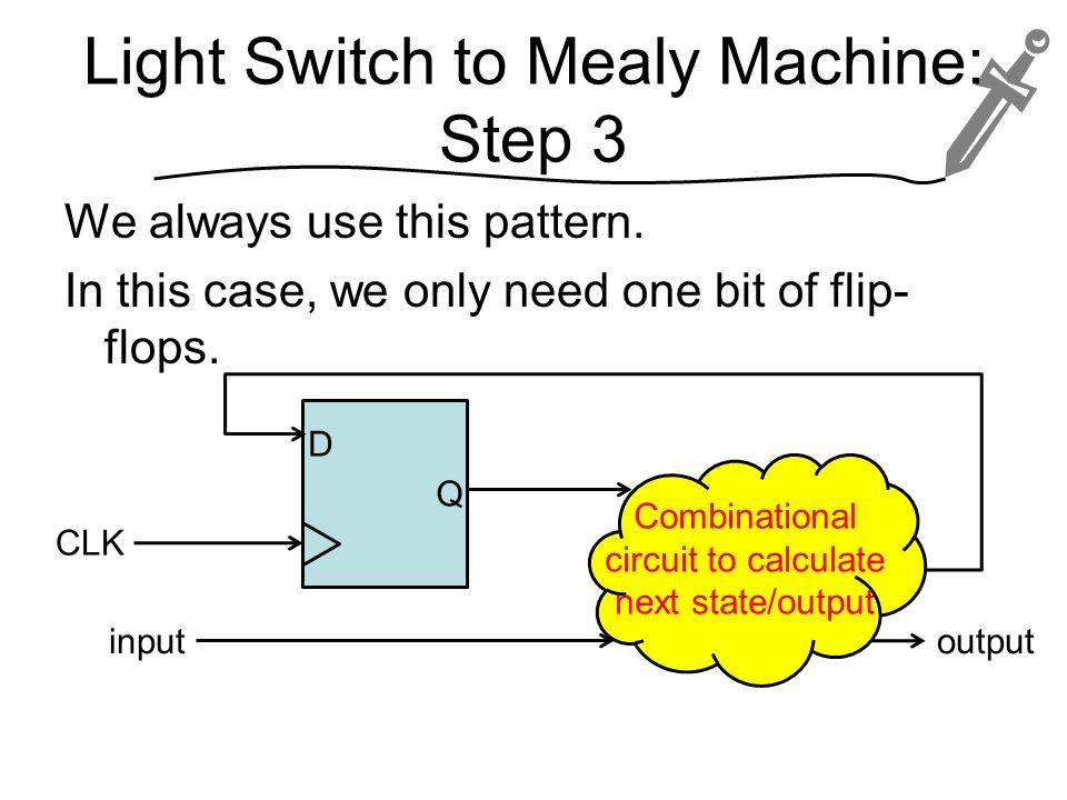Light Switch to Mealy Machine: Step 3