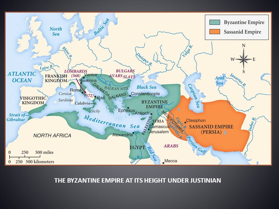 THE BYZANTINE EMPIRE AT ITS HEIGHT UNDER JUSTINIAN
