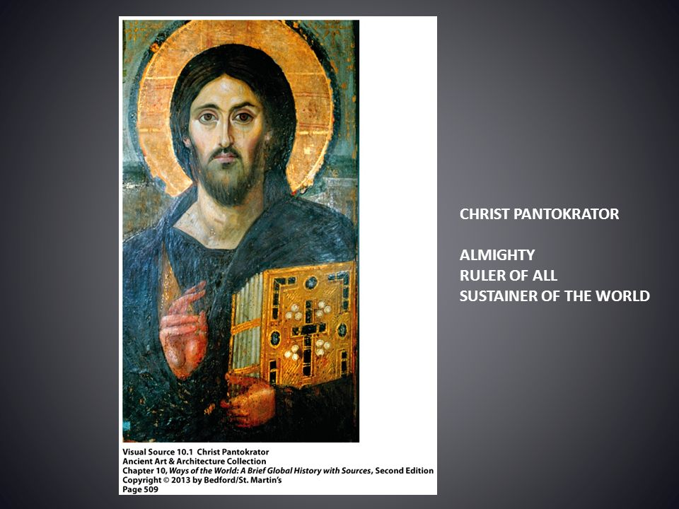 CHRIST PANTOKRATOR ALMIGHTY RULER OF ALL SUSTAINER OF THE WORLD