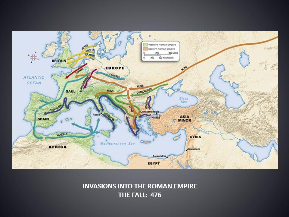 INVASIONS INTO THE ROMAN EMPIRE
