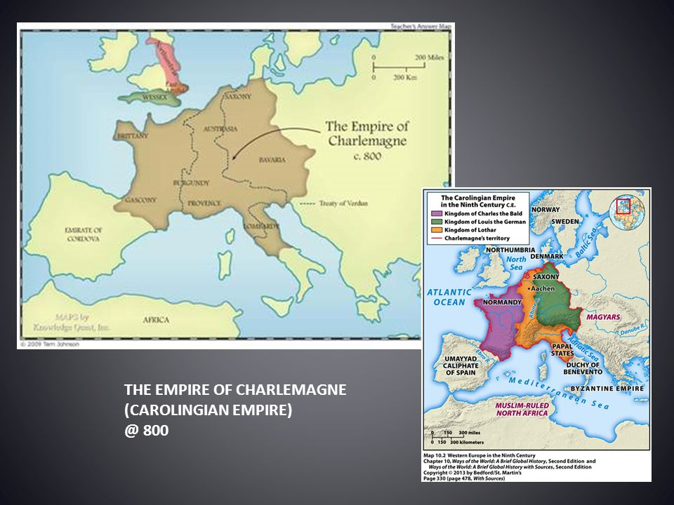 THE EMPIRE OF CHARLEMAGNE