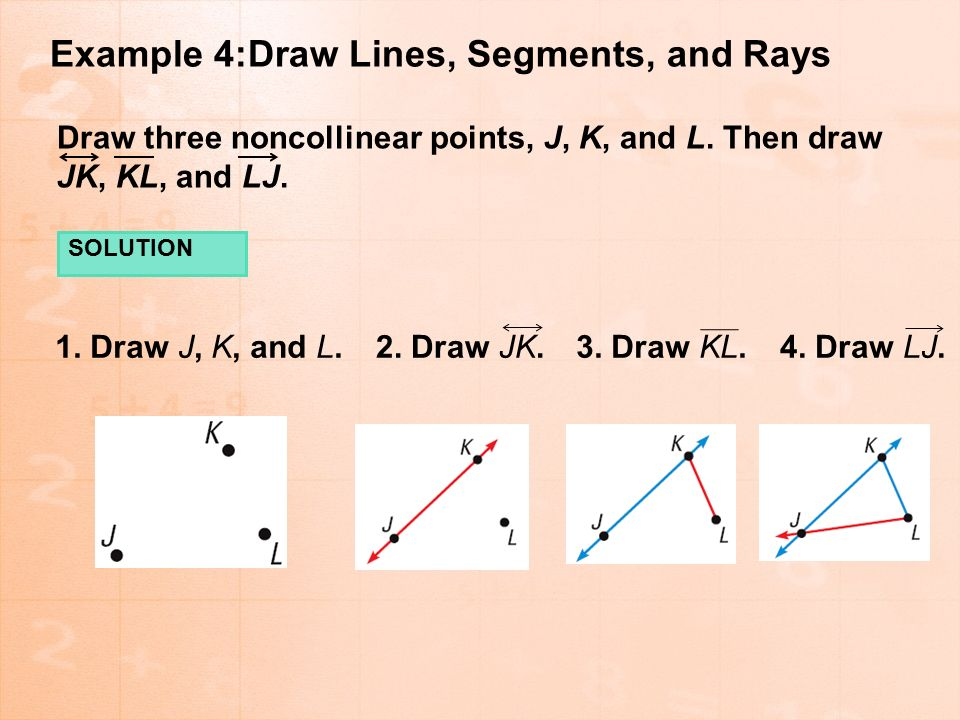 Drawing Lines Segments And Rays : Points lines and planes ppt download