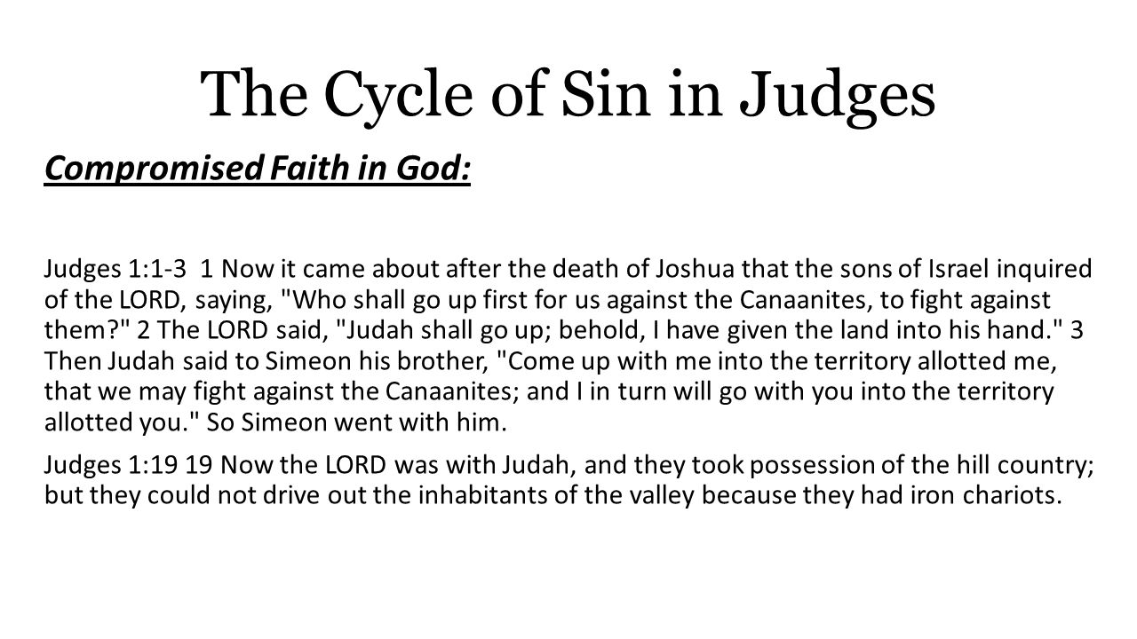 Judges cycle of sin essay