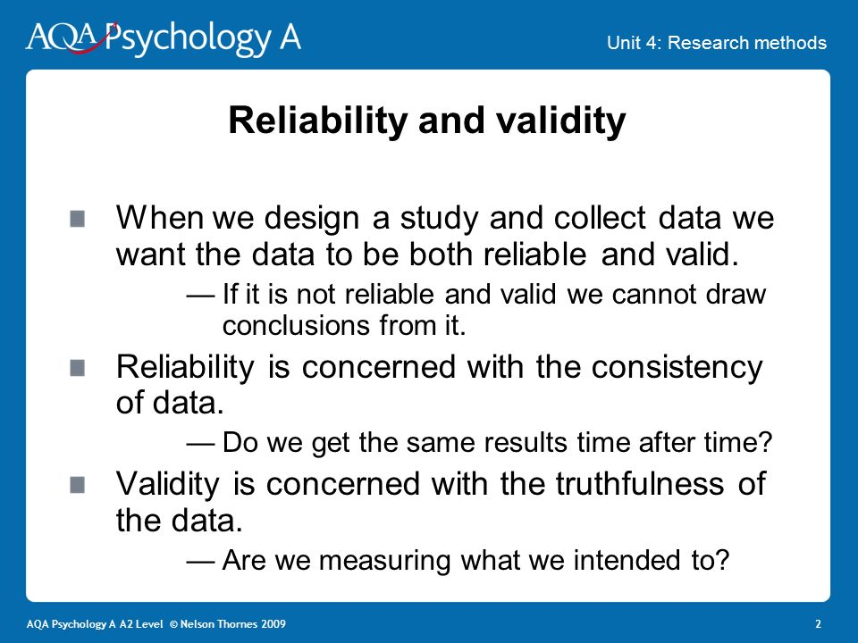 Validity psychology