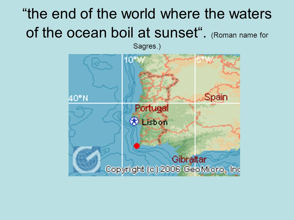 the end of the world where the waters of the ocean boil at sunset