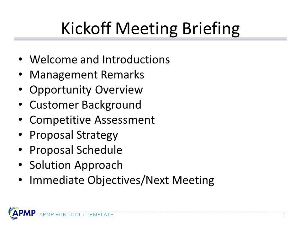 Kickoff Meeting Briefing Ppt Video Online Download