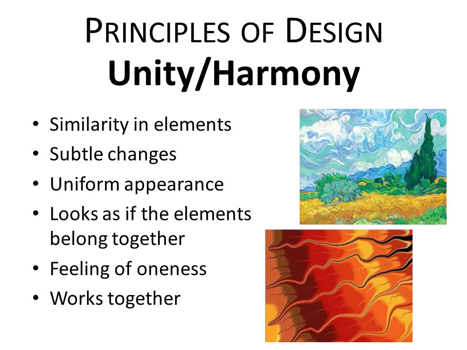 Principles Of Design Harmony : Elements of art principles design ppt video online