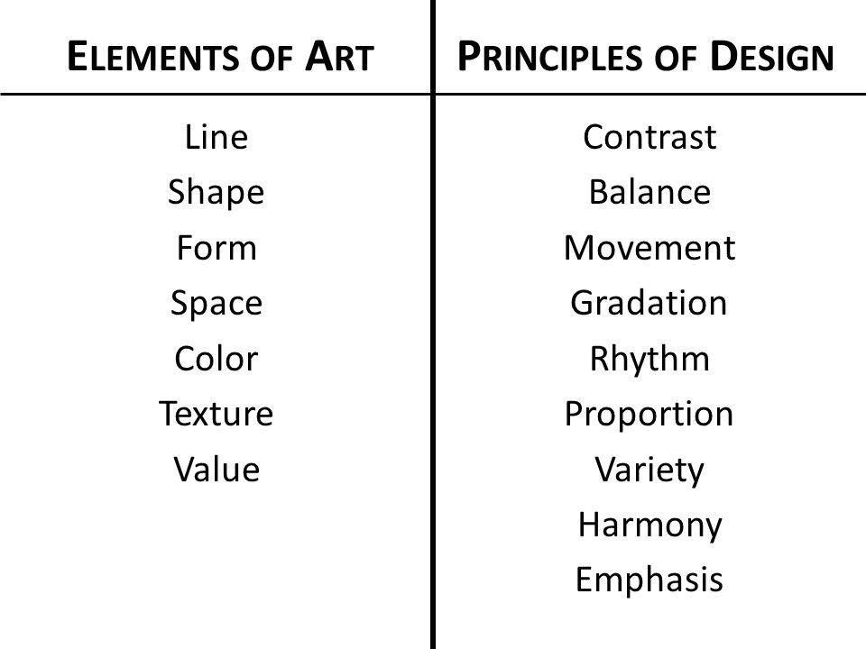 Line Shape Form : Elements of art principles design ppt video online