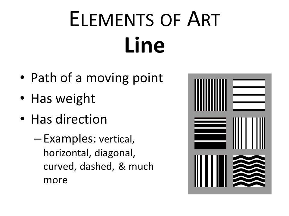 Elements of art examples of line
