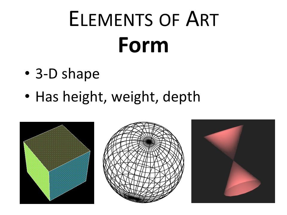Shape Form And Space In Art : Elements of art principles design ppt video online