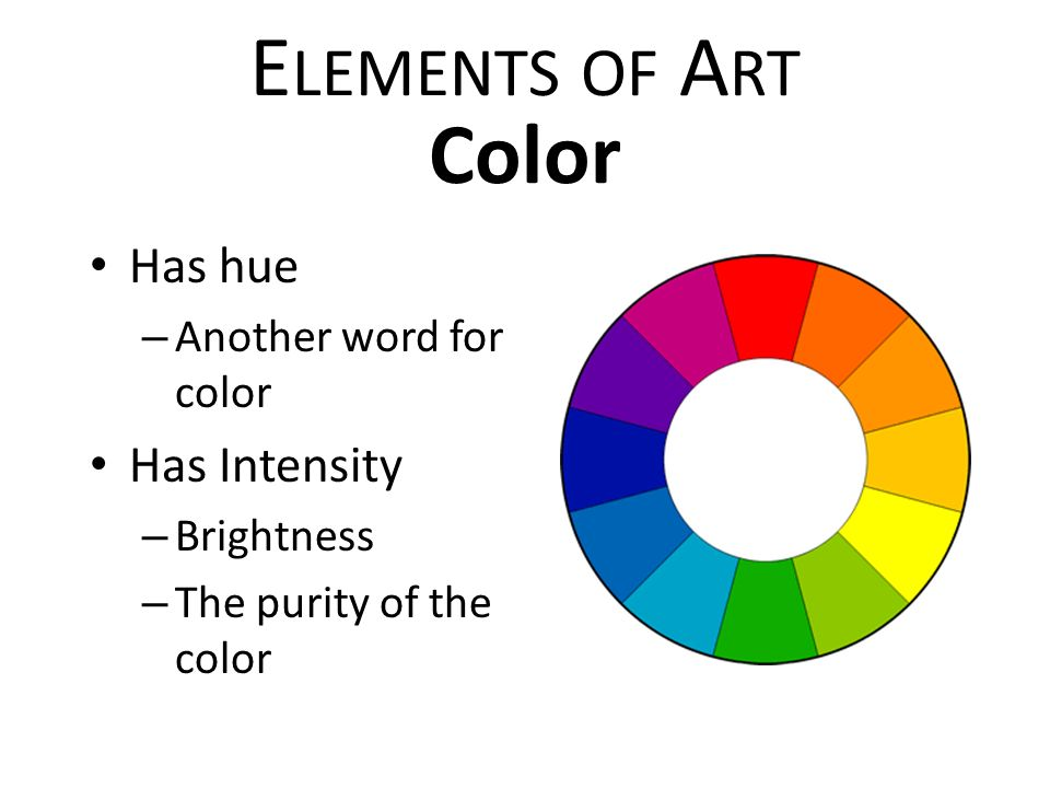 Elements Of Art Colour : Elements of art principles design ppt video online