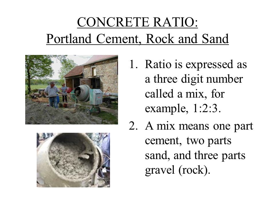 Mortar Mix Ratio : Concrete ratio ppt video online download